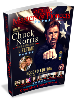 Make A Donation Get A Complimentary Copy of the Chuck Norris Edition Second Edition of the Martial Arts Masters & Pioneers Biography Book.