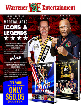 AMAA MARTIAL ARTS ICONS & LEGENDS BIOGRAPHY BOOKS