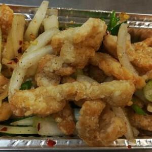 Salt & Chilli Pepper Shredded Chicken (Spicy)