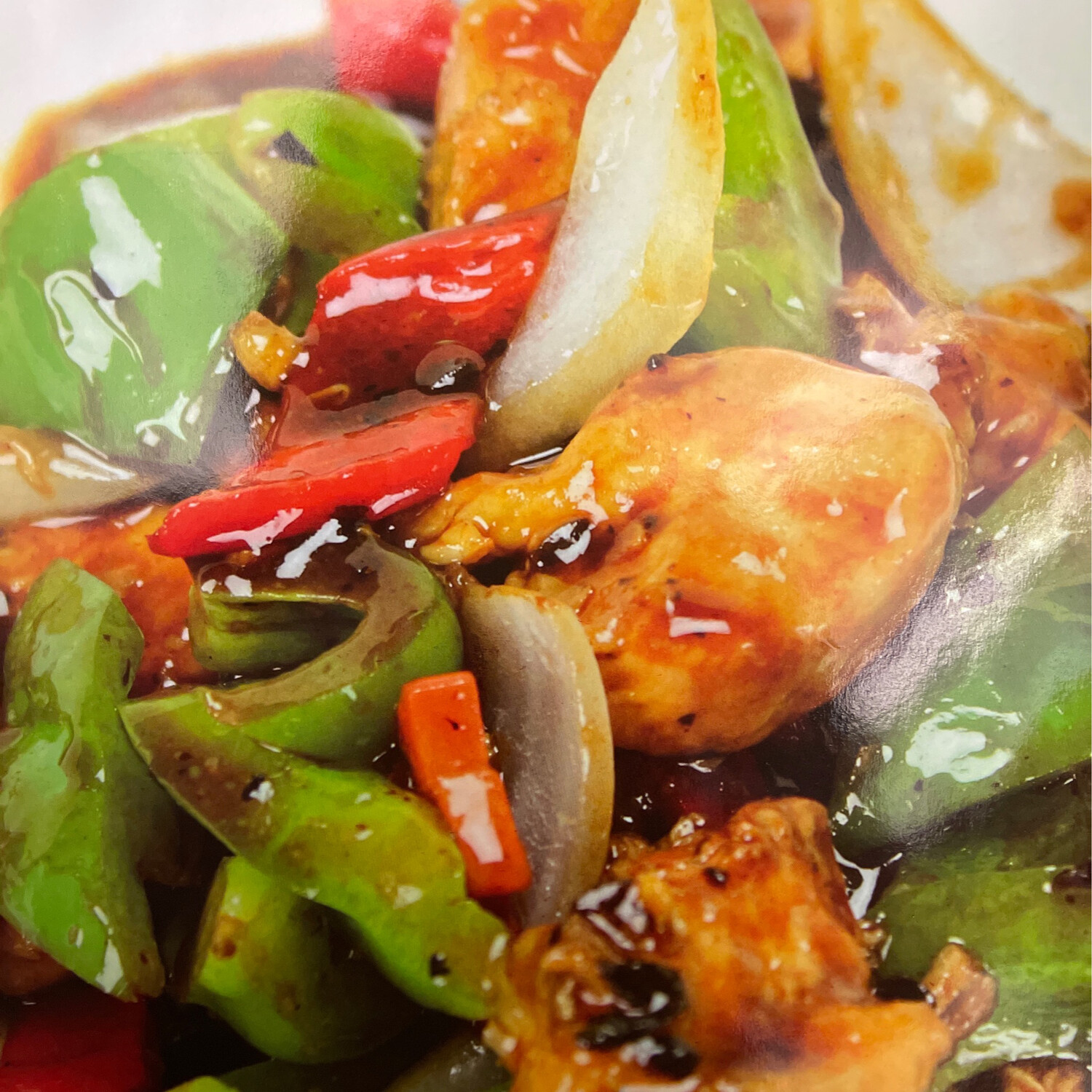 Chicken and Green Peppers in Black Bean Sauce