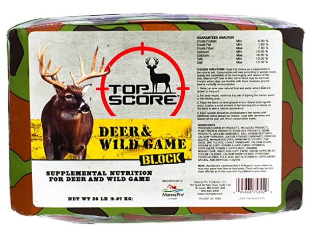 Top Score Deer and Wild Game Block