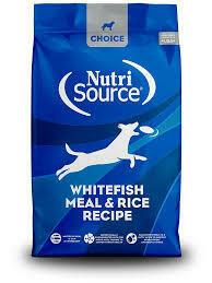NutriSource Whitefish & Rice
