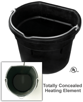 18 Quart Heated Flat Back Rubber Bucket