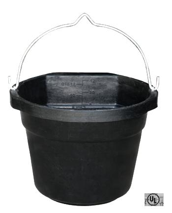 12 Quart Heated Flat Back Rubber Bucket