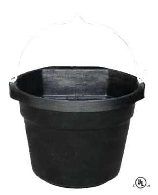 12 Quart Heated Flat Back Rubber Bucket