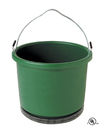 2 Gallon Plastic Heated Bucket