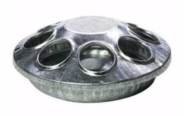 """Little Giant 6"""" Round Poultry Feeder"""