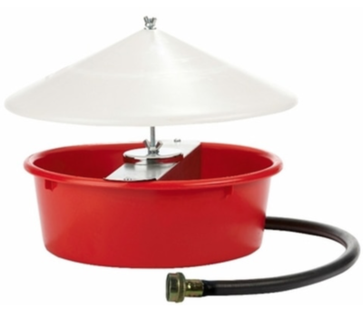 Miller 5 Quart Automatic Poultry Waterer with Cover