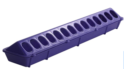 Yellow Little Giant Plastic Flip-Top Poultry Ground Feeder