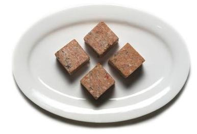 "Salmon Ground (2""x2"" Cubes) min 5lb order"