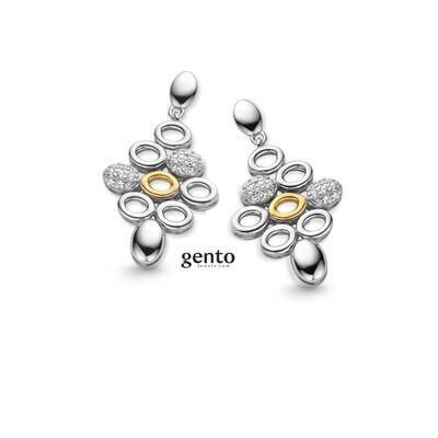 Boucles d'oreilles argent Gento IB86