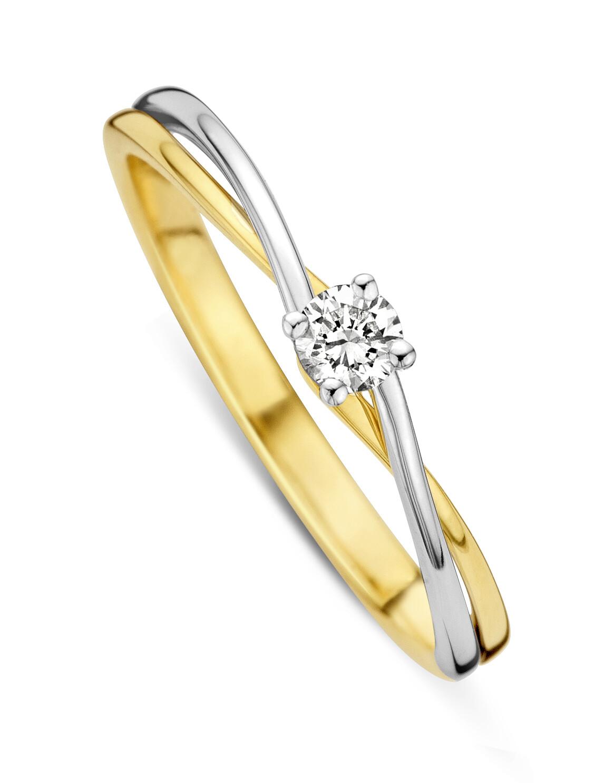 Bague solitaire or 18 carats et diamant Dulci Nea