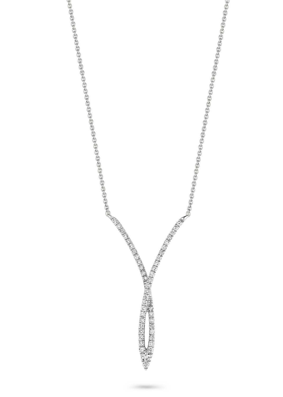 Collier or blanc 18 carats et diamants Dulci Nea