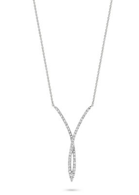 Collier or blanc 18 carats et diamants Dulci Nea