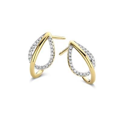 Boucles d'oreilles or 18 carats et diamants Dulci Nea