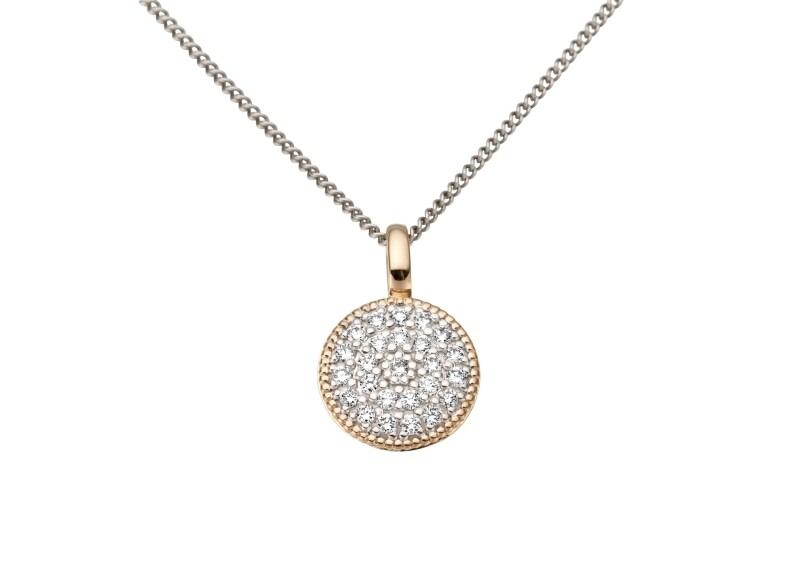 Collier or jaune et diamants