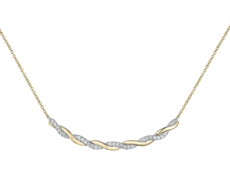 Collier or jaune 18 carats et diamants