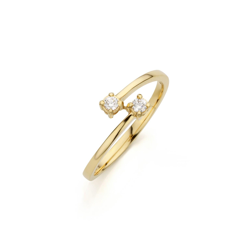 Bague or jaune 18 carats+ diamants