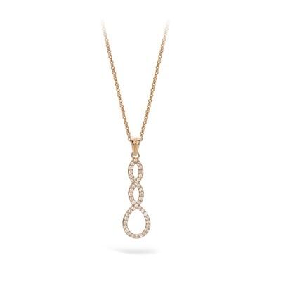Collier or 18 carats et diamants