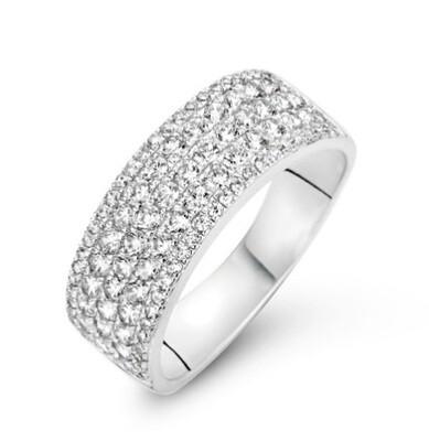 Bague or blanc + diamant