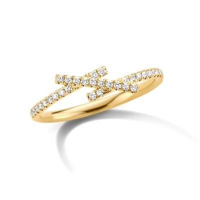 Bague or 18 carats + diamants