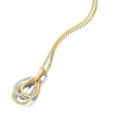 Collier or 18 carats + diamants