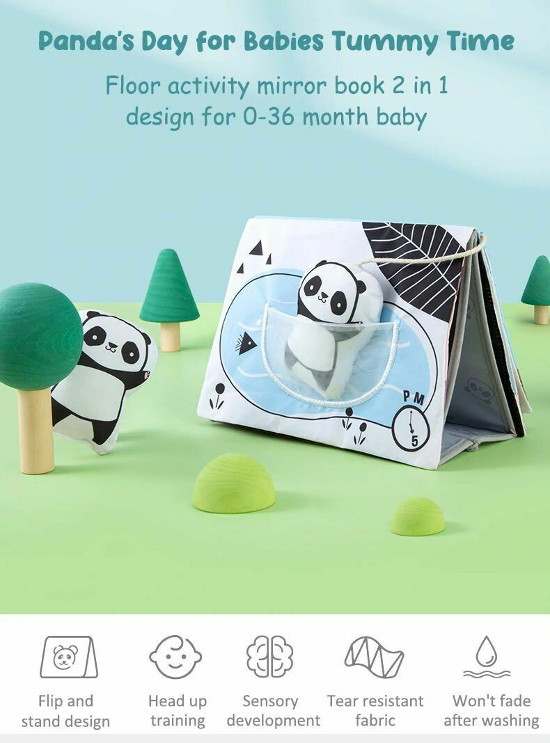 Tummy Time Book With Mirror