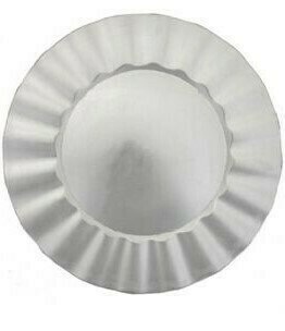 Silver Ruffle Melamine Charger