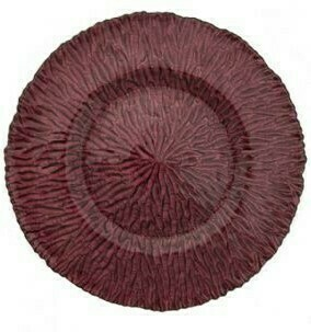 Amethyst Ripple Glass Charger