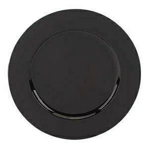 Black Beaded Melamine Charger
