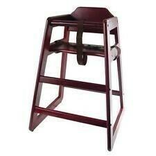Children's Wooden High Chair Mahogany