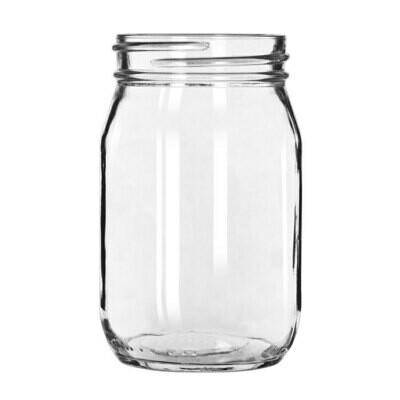 Mason Jar Glass 16 Oz. - Rack of 25 Glasses