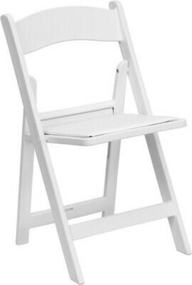 Children's Folding Chair Resin White