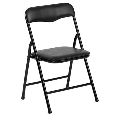 Children's Folding Chair Metal Black