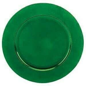 Green Beaded Melamine Charger