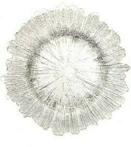 Silver Sponge Glass Charger