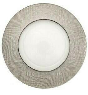 Diamond Platinum Glass Charger
