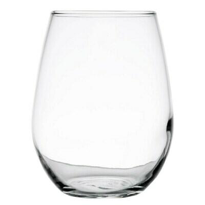 Wine Stemless Glass 21 Oz. - Rack of 16 Glasses