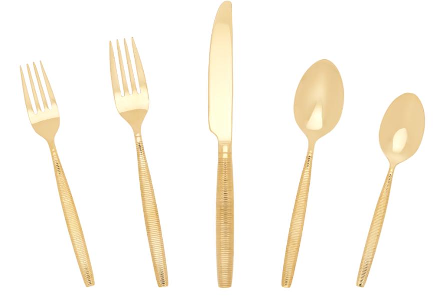 Stripes Flatware - Gold