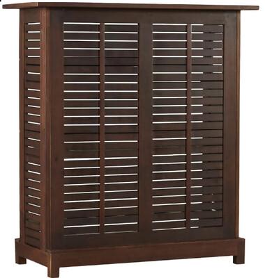 Mahogany Outdoor Bar Cabinet