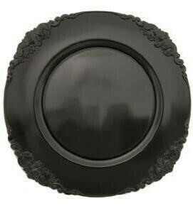 Black Scroll Melamine Charger