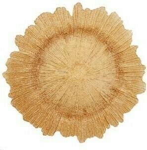 Rose Gold Sponge Glass Charger