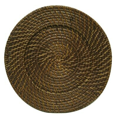 Rattan Brown Charger