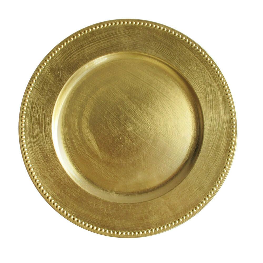Gold Beaded Melamine Charger
