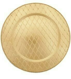 Gold Quilted Melamine Charger