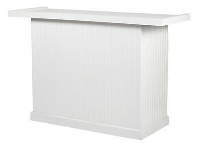 White Wainscoting Wood Folding Bar 5'