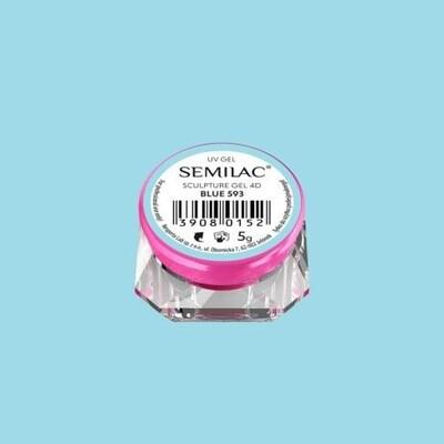 593 SEMILAC SCULPTURE GEL 4D BLUE 5 G