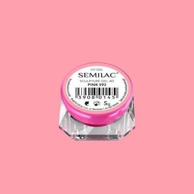 592 SEMILAC SCULPTURED PINK GEL 4D