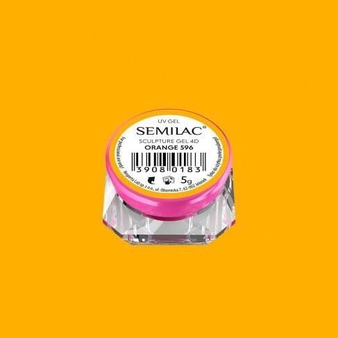 596 SEMILAC SCULPTURE GEL 4D ORANGE 5 G