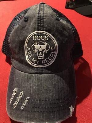 Dogs Are My People hat, distressed